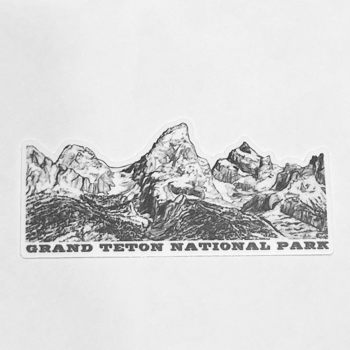 The Grand Teton National Park Cut Out Sticker