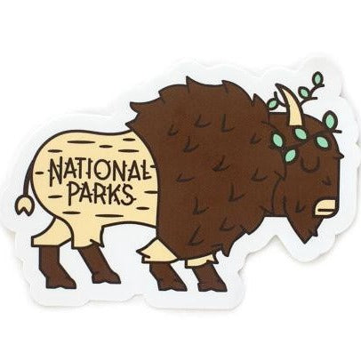 Bison Vinyl Sticker