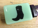 Mint Green with Black Cowboy Boot