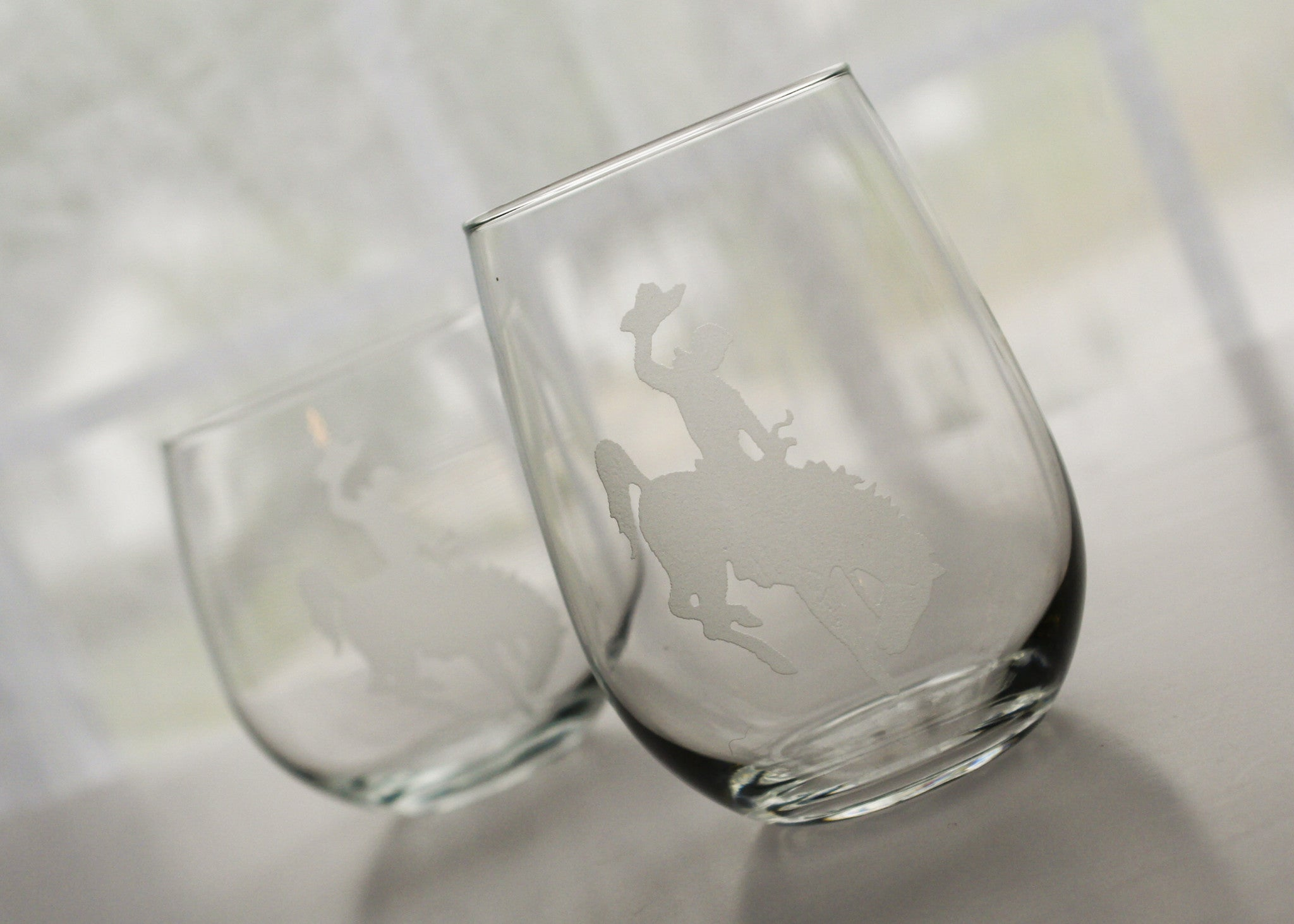 etched wine glass - Etched Wine Glasses
