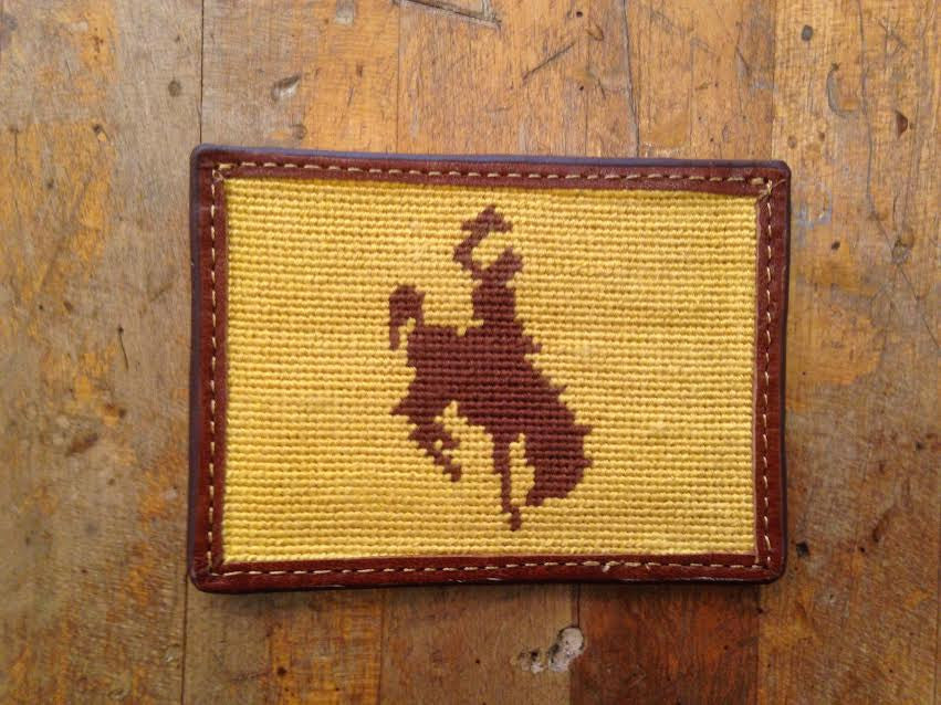 Wyoming Bronco Card Holder