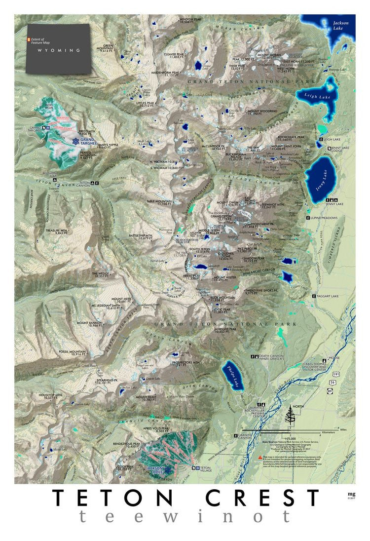 Ski Areas In Wyoming Map.Teton Crest Cartography Map Made