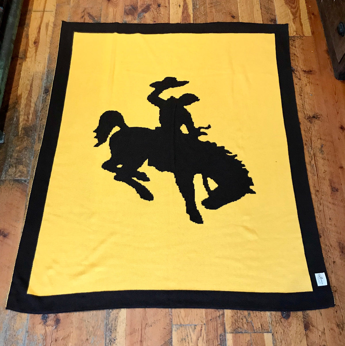 Reversible Bucking Bronco Throw Blanket