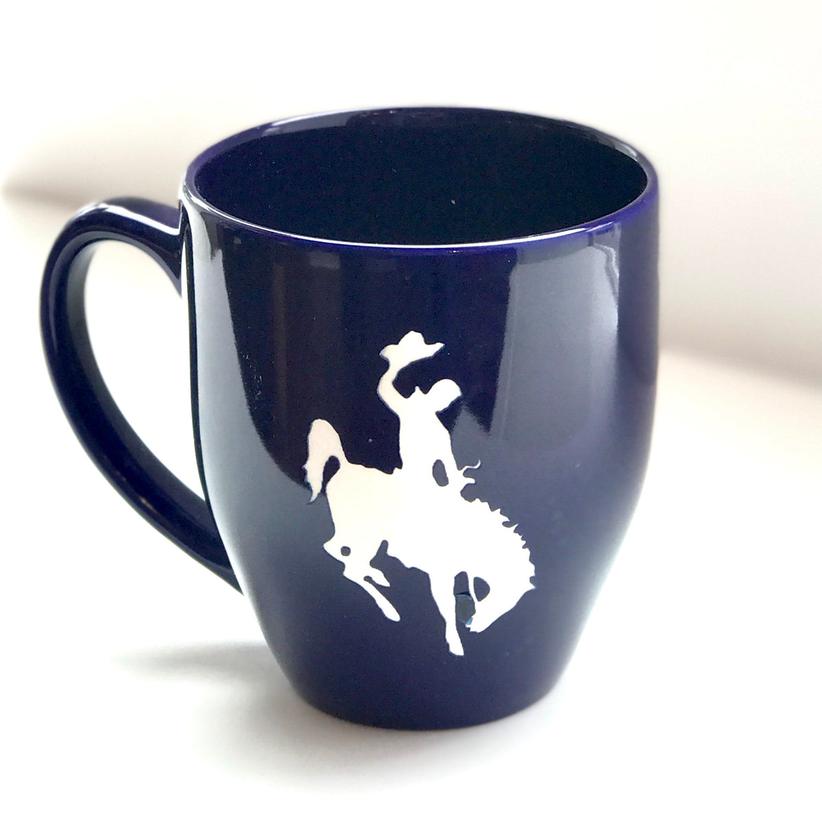 Sandblasted Bronco Coffee Mug