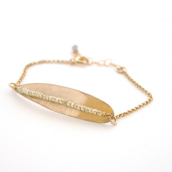 14K Gold Fill Light as a Feather Bracelet