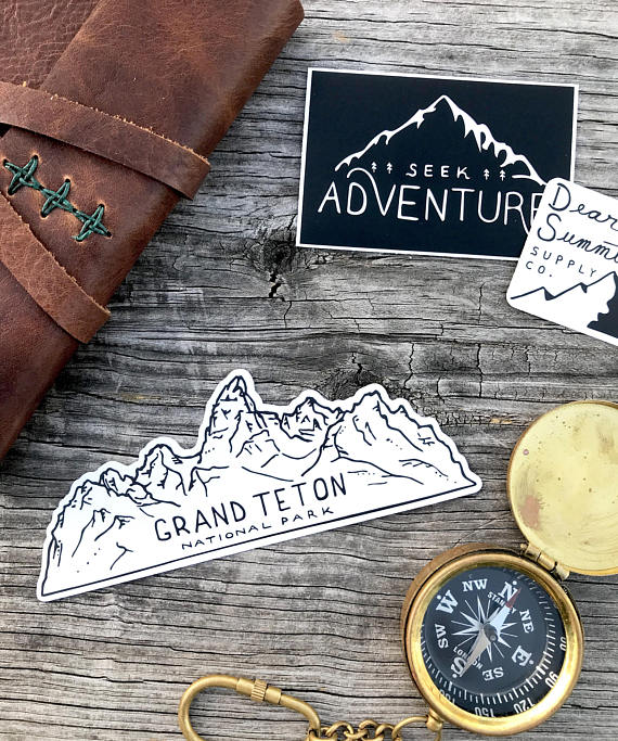 Grand Teton Outline Sticker