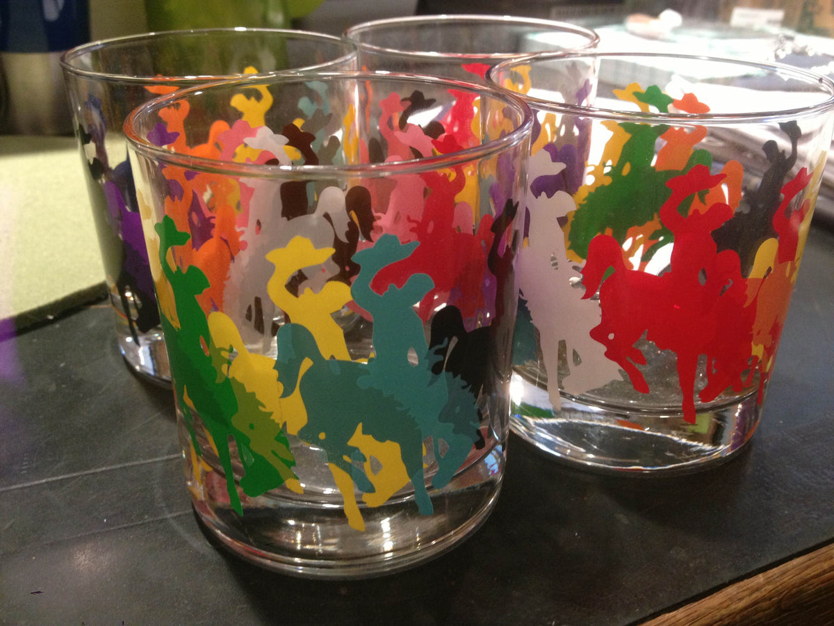 Multi Print Bronco Rocks Glasses