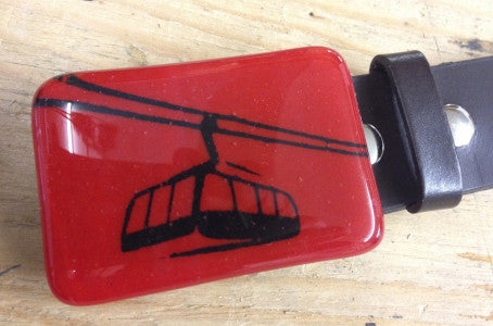 Tram Glass Belt Buckle