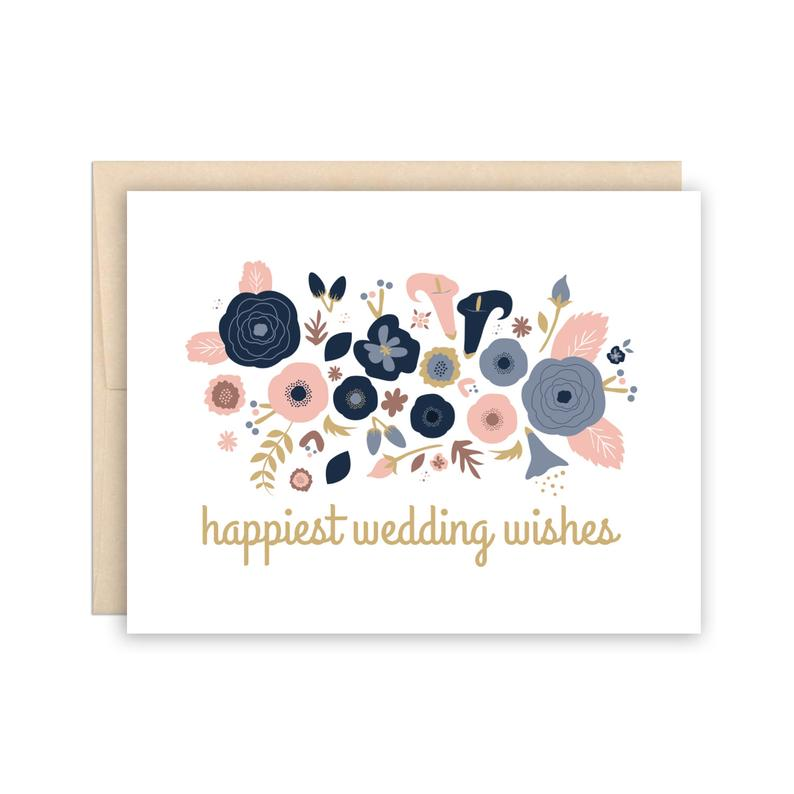 Happiest Wedding Wishes Card