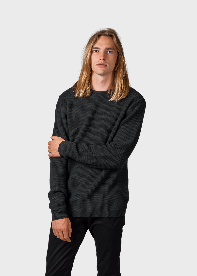 Klitmøller Collective ApS Frede knit Knitted sweaters Olive