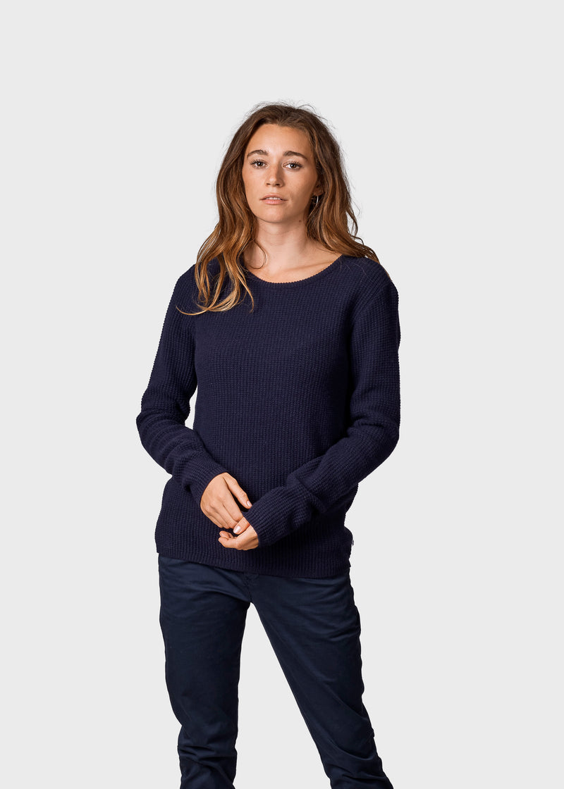 Klitmøller Collective ApS Frida knit Knitted sweaters Navy