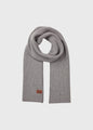 Heavy rib scarf - Light grey