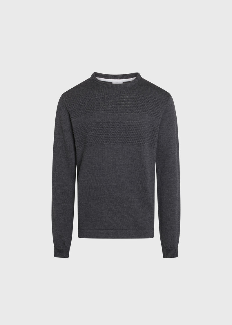 Klitmøller Collective ApS Johan knit Knitted sweaters Anthracite