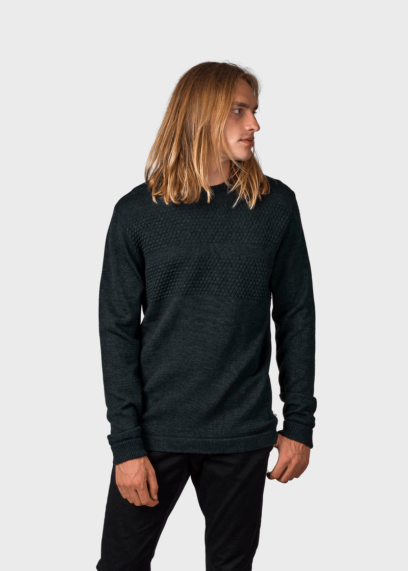 Klitmøller Collective ApS Johan knit Knitted sweaters Olive