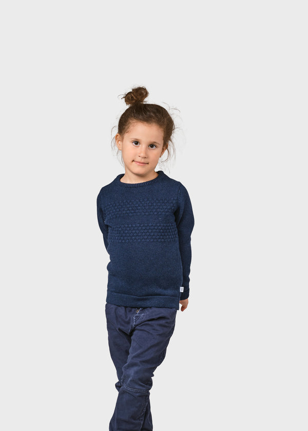 Klitmøller Collective ApS Kids fisher cotton knit Knitted sweaters Ocean