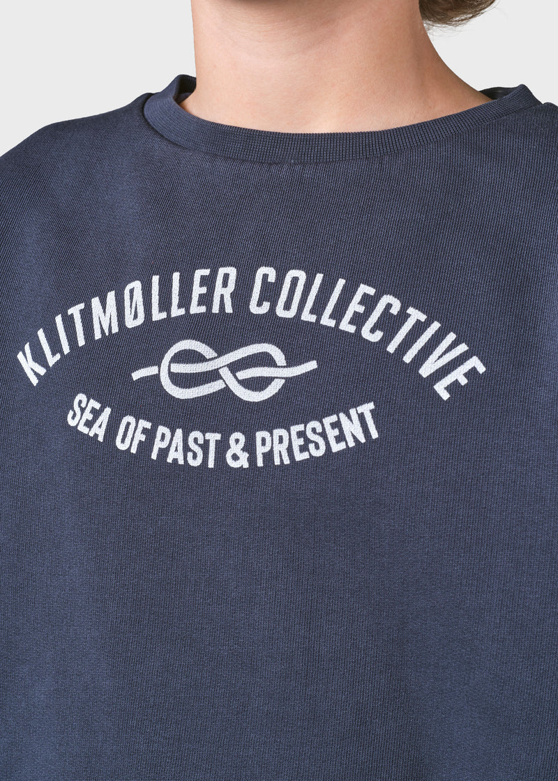 Klitmøller Collective ApS Kids logo eye crew Sweatshirts Navy
