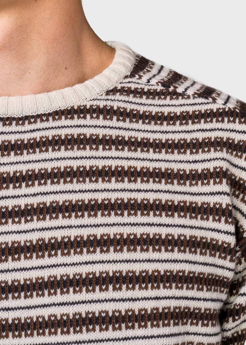 Klitmøller Collective ApS Laurits knit Knitted sweaters Cream base