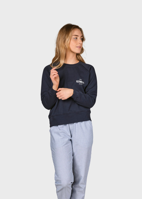 Klitmøller Collective ApS Maja small logo crew Sweatshirts Navy