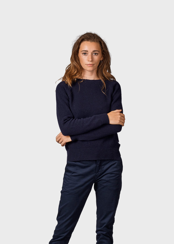 Klitmøller Collective ApS Nina knit Knitted sweaters Navy