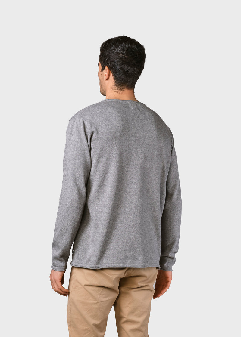 Klitmøller Collective ApS Noah knit Knitted sweaters Light grey