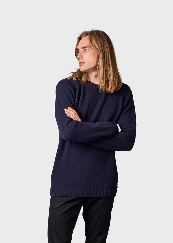 Klitmøller Collective ApS Ole Knitted sweaters Navy