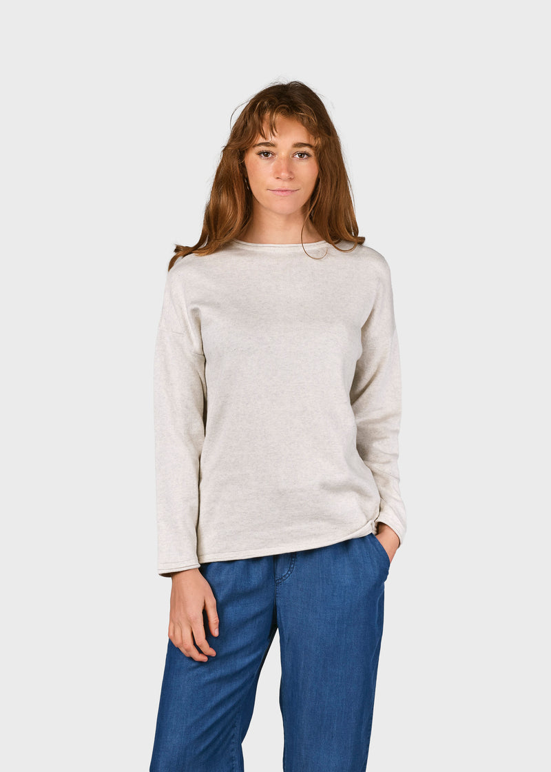Klitmøller Collective ApS Patricia knit Knitted sweaters Cream melange