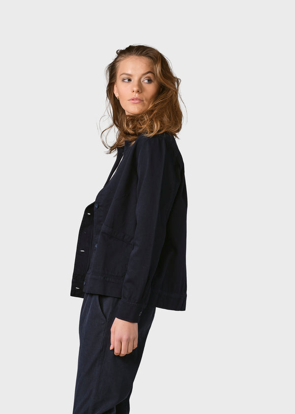 Klitmøller Collective ApS Rita twill jacket Jackets Navy