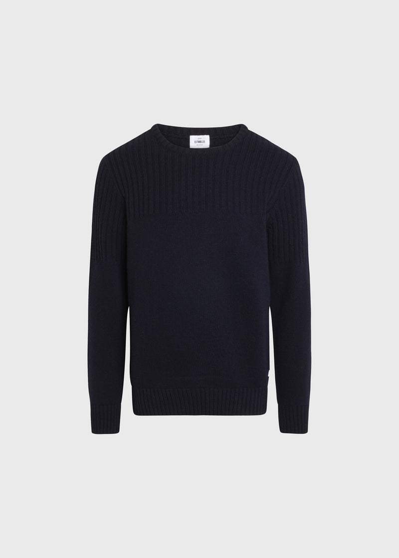 Klitmøller Collective ApS Søren Knitted sweaters Navy