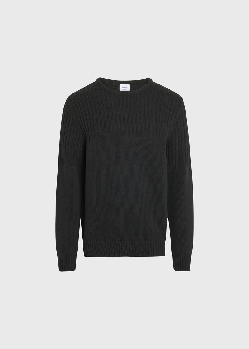 Klitmøller Collective ApS Søren Knitted sweaters Olive