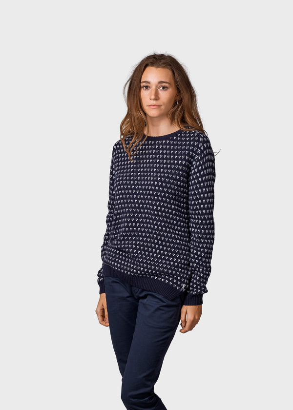 Klitmøller Collective ApS Mika knit Knitted sweaters Navy/cream