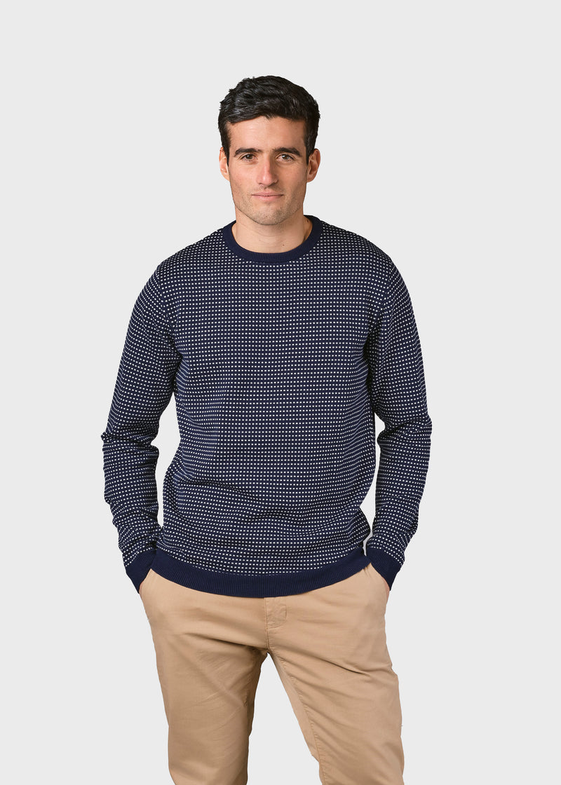 Klitmøller Collective ApS Otto knit Knitted sweaters Navy/cream