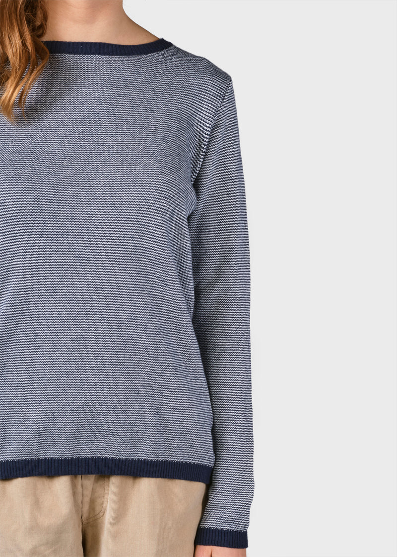Klitmøller Collective ApS Rosa knit Knitted sweaters Navy/cream