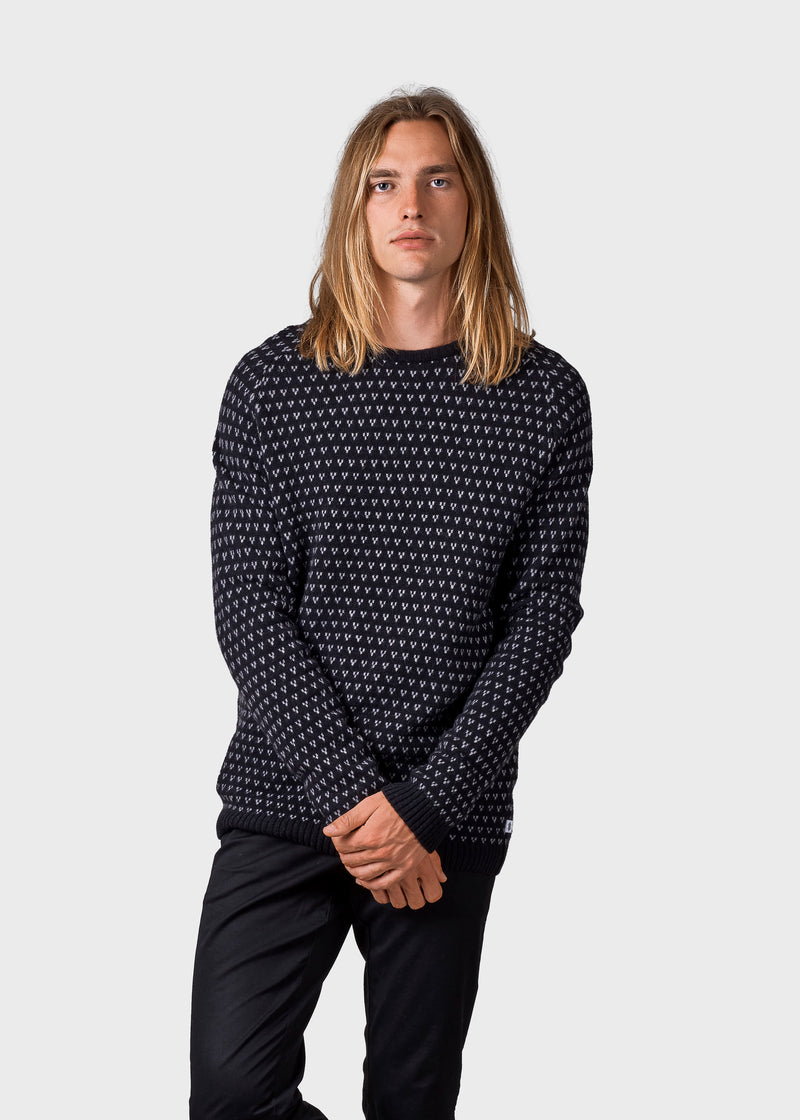 Klitmøller Collective ApS Hugo knit Knitted sweaters Black/light grey