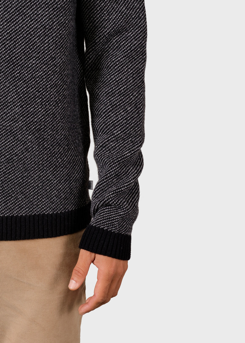 Klitmøller Collective ApS Otto knit Knitted sweaters Black/light grey
