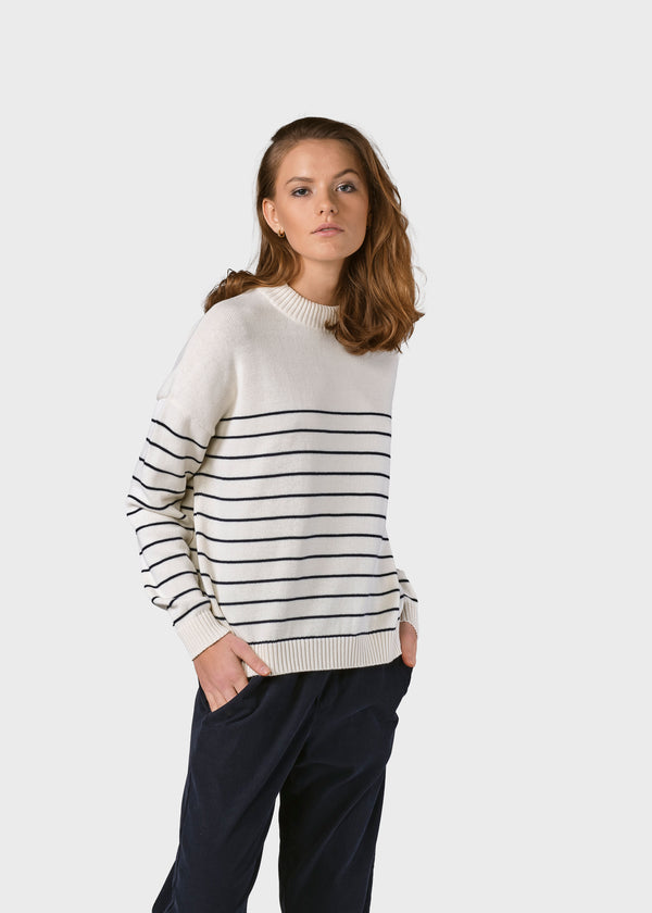 Klitmøller Collective ApS Ibi knit Knitted sweaters Cream/navy