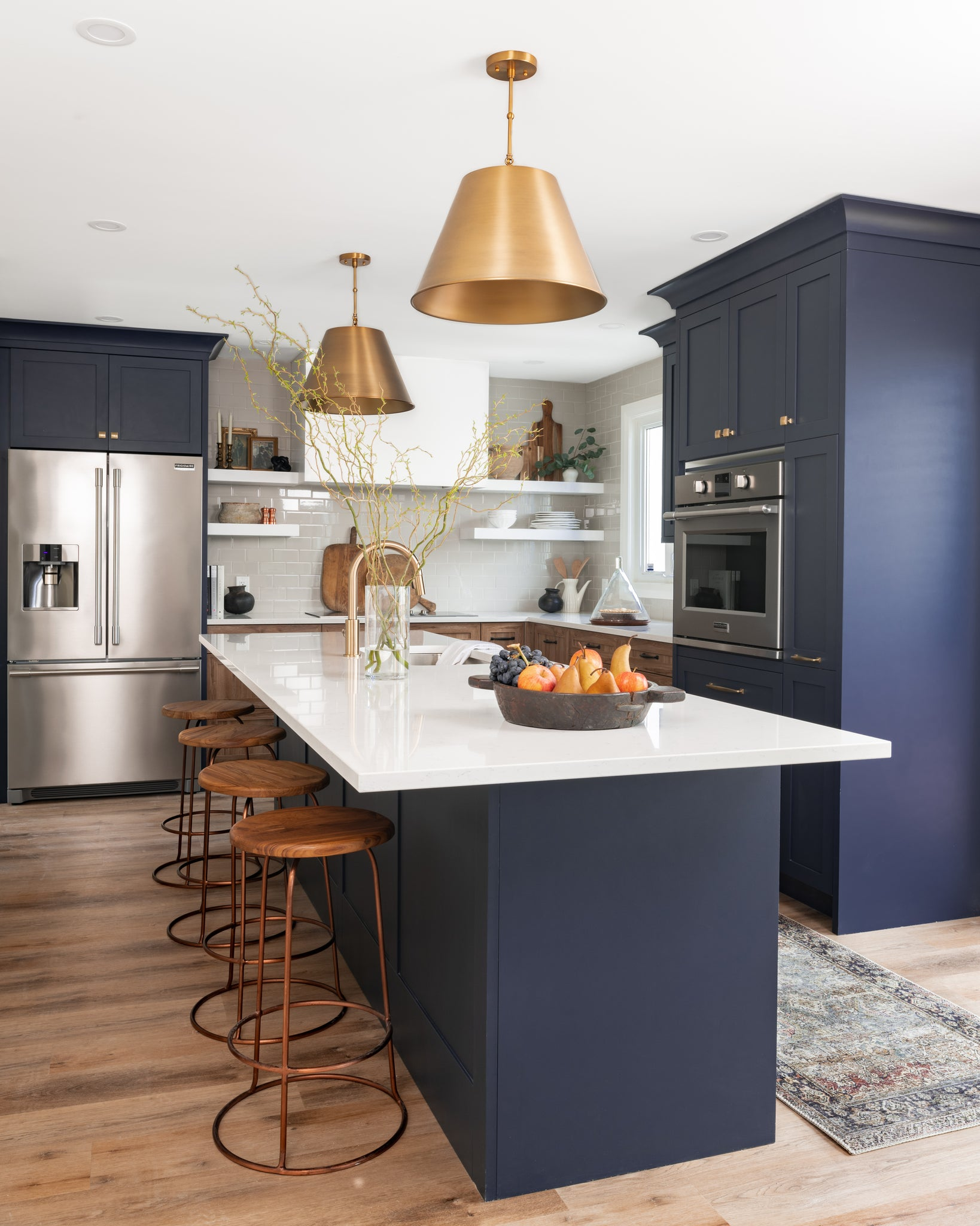 Two toned Navy and wood kitchen west of main