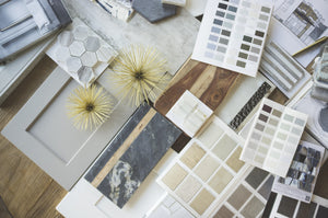 Interior design sample material