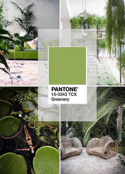 Interior Design - Spring Colours -Pantone Greenery