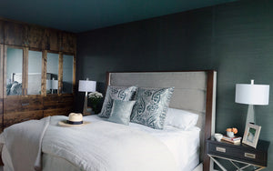 Master bedroom with bed and nightstands