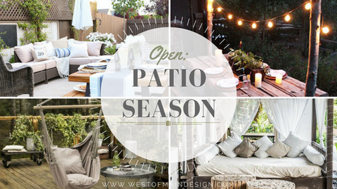 patio season - interior design setup