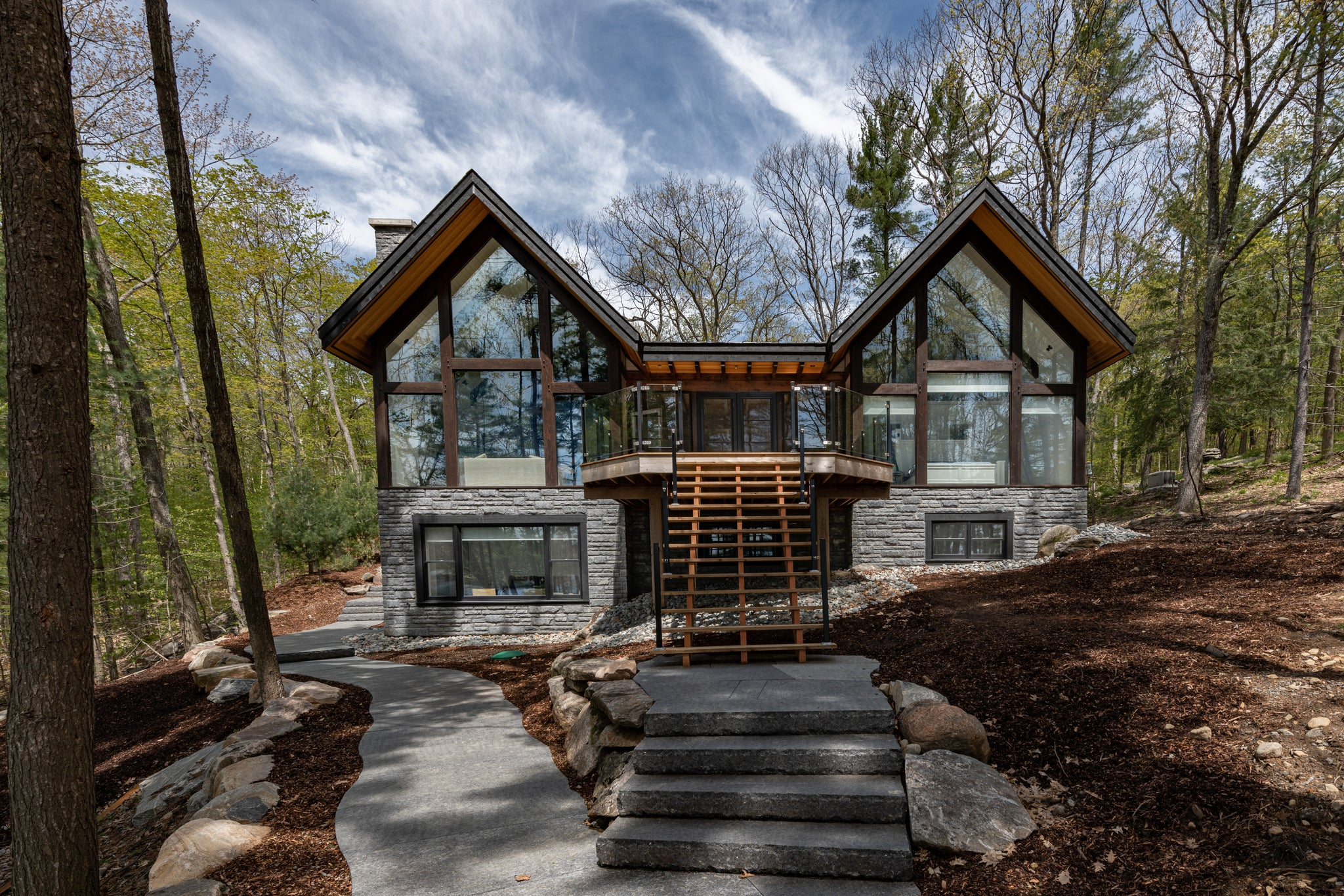 Lake muskoka cottage exterior