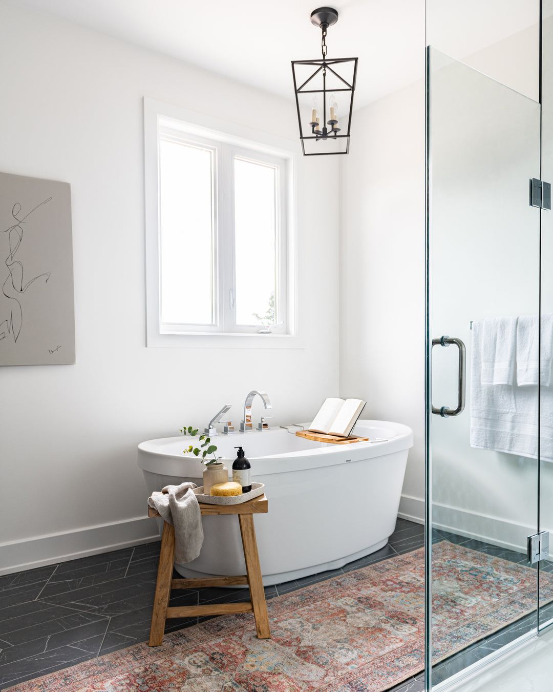 Master bathroom, stand alone tub, west of main