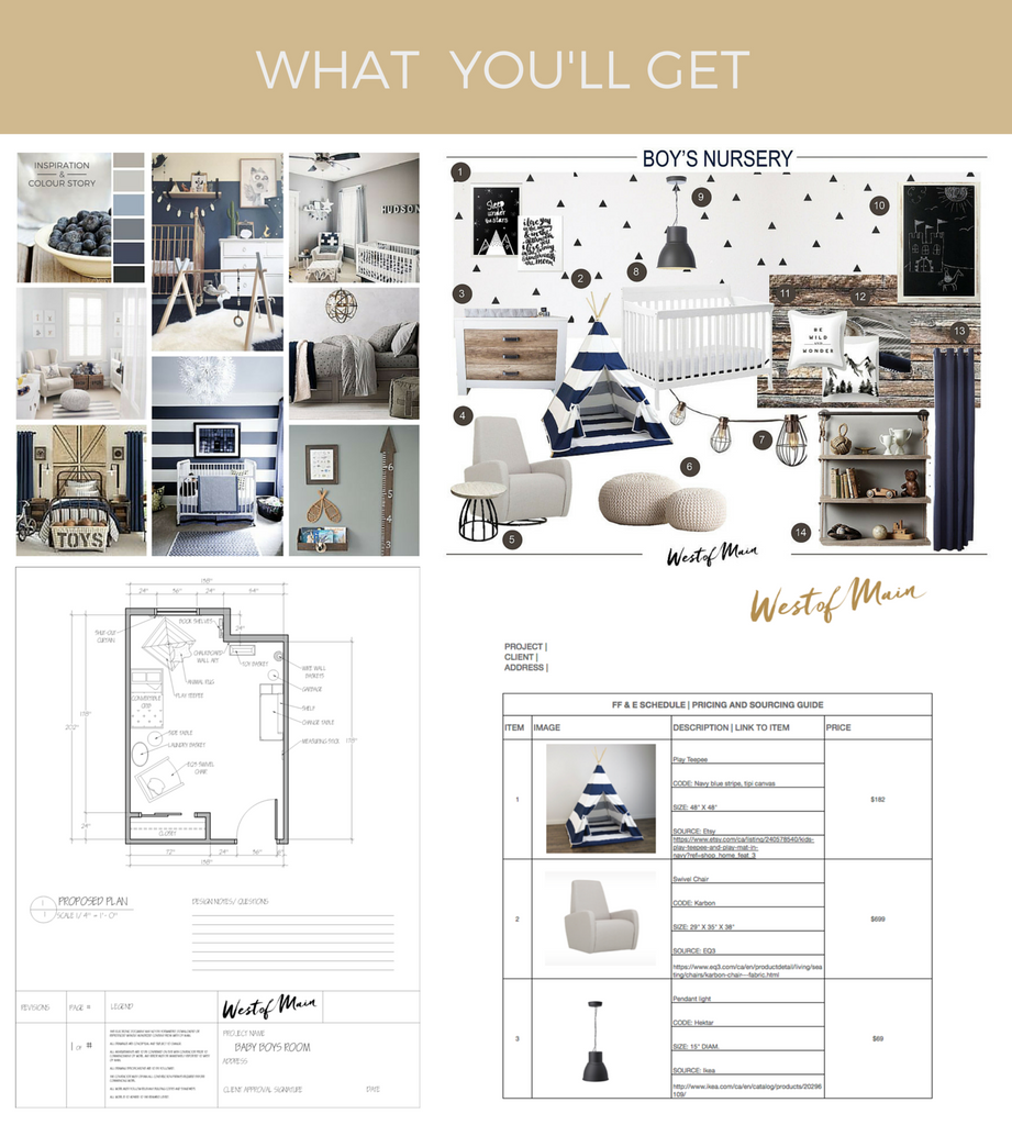First We Send You The Inspiration Board And Colour Palette To Make Sure Are All On Same Page Headed In Right Direction