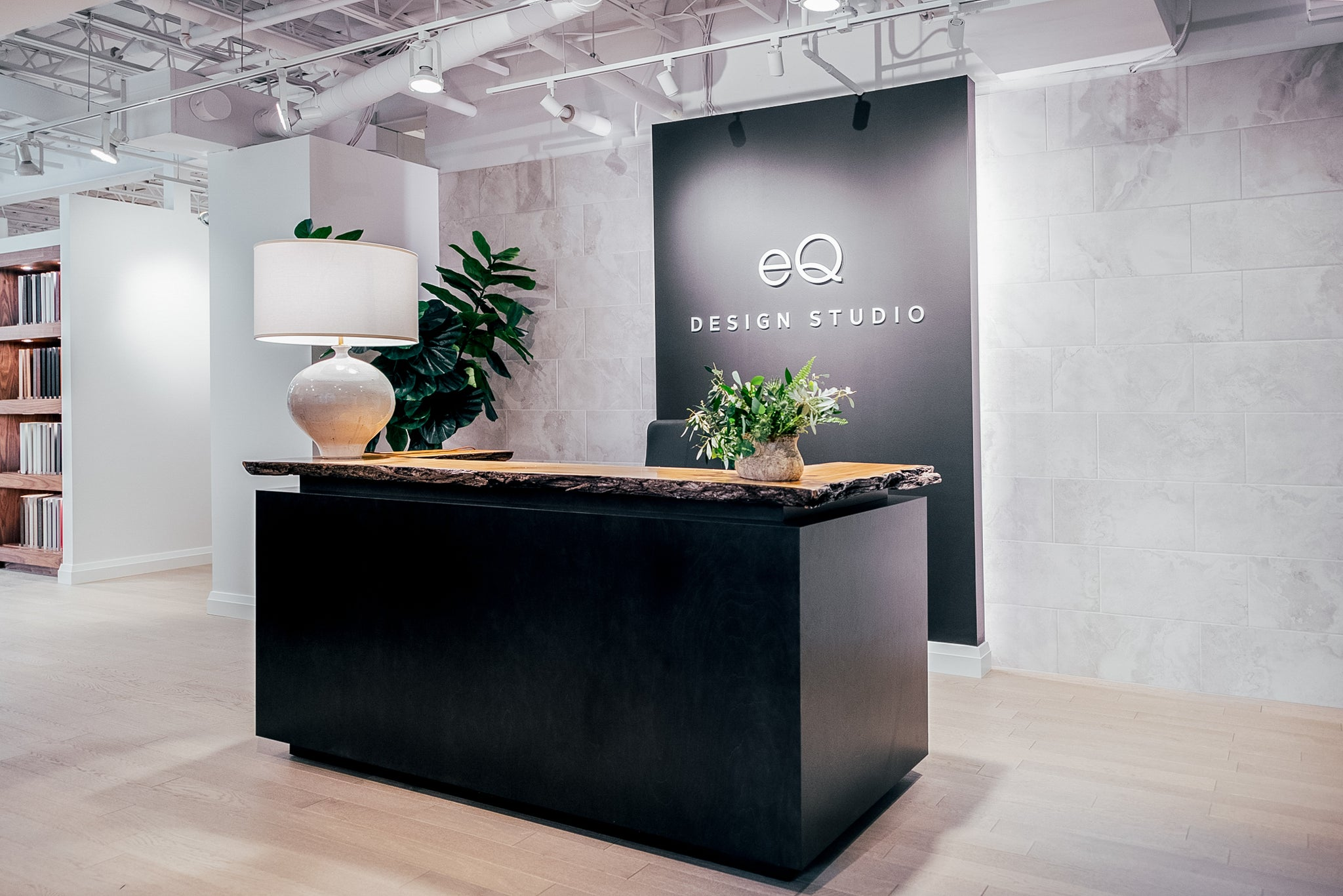 EQ Homes Design Studio. Reception Desk and Entryway