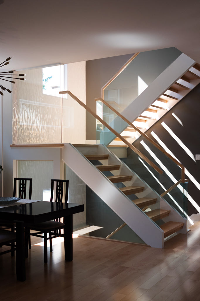 Westboro Infill Modern Staircase and dining room.