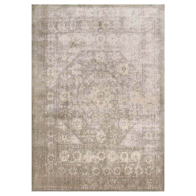 Laki Grey / Sage Rug. Ornate traditionally distressed rug. Affordable neutral rug.