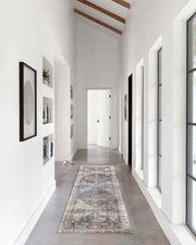 Laki Ivory / Multi Runner in a hallway. Multicoloured rug in a high traffic area of a home.