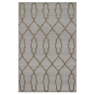Atlas Slate Rug. Flat weave, Moroccan style rug with high/low texture pattern.