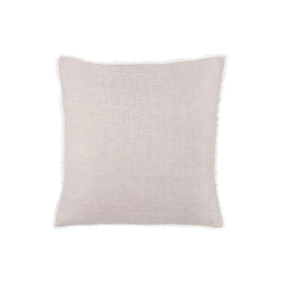 Striped belgian linen grey pillow.