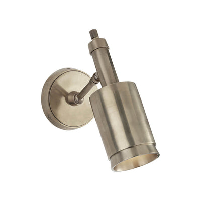 Anders Articulating Wall Sconce is an articulating wall light in a antique nickel finish with a modern shape.